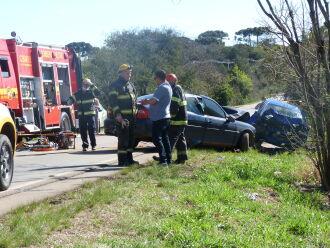 Acidente aconteceu na perimentral da RS 324, próximo ao trevo da Roselândia