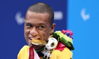 Ele já havia garantido o ouro nos200 mlivre da classe S2eprata nos 100 metros costas (S2) (Foto: Lisi Niesner/CPB)