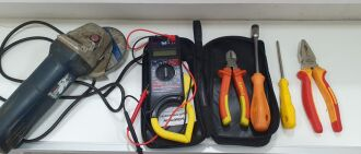 Entre os materiais roubados estavam ferramentas (Foto: Divulgação/BM)