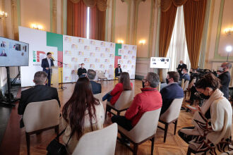 Sanção foi realizada pelo governador Eduardo Leite (Foto: Itamar Aguiar / Palácio Piratini)