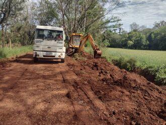 As obras começaram em Santo Antônio do Capinzal (Foto: Divulgação/PMPF)