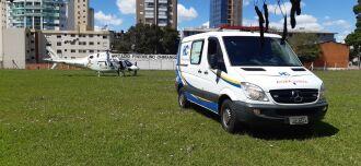A aeronave pousou no Estádio Fredolino Chimango, antigo quartel do exército. Foto: Gerson Lopes/ON