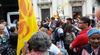 Professores realizaram manifestação em POrto Alegre nesta manhã