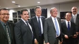 Presidente do Tribunal Superior Eleitoral recebeu o presidente da Famurs, Salmo Dias de Oliveira
