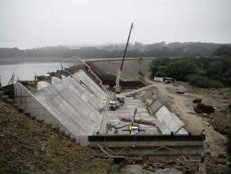 Obra da barragem de Ernestina durou quatro anos e foi entregue em 2012