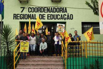 Ato do Dia de Pressão em Defesa da Escola Pública foi realizado em todo estado