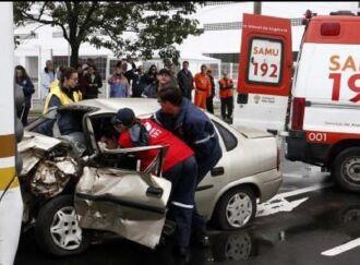 A imagem é de um simulado, mas aumento de acidentes e infrações preocupa em razão de possíveis mudanças no CTB