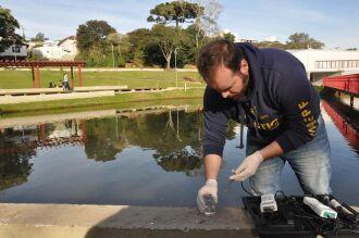 Testes realizados no local indicaram bom nível de oxigênio, PH e turbidez da água