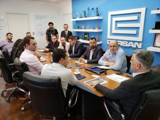 Reunião realizada na sede da Corsan, em Porto Alegre, na segunda-feira (4)