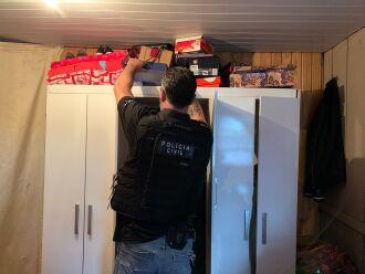Mandados de busca e apreensão e prisão preventiva foram cumpridos nos bairros Zachia, Valinhos e Vera Cruz