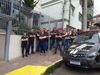 Policiais civis paralisaram em Passo Fundo na quarta e quinta-feira