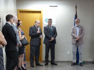 Solenidade aconteceu ontem à tarde com a presença do juiz-corregedor da Corregedoria Geral da Justiça e membro do comitê do e-proc, André Luis de Aguiar Tesheiner