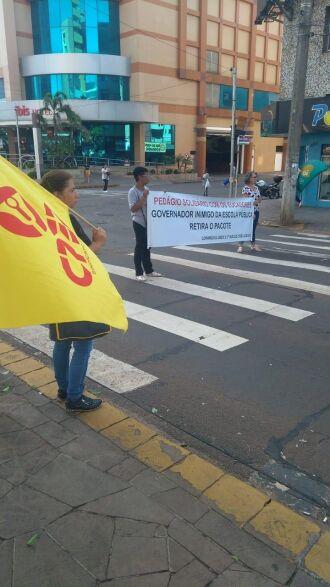 Pedágio aconteceu sábado, na avenida Brasil