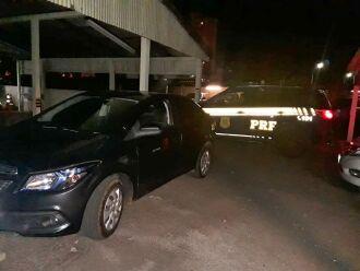 O veículo foi recuperado na noite desta terça-feira