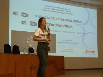 O plano foi apresentado pela enfermeira Daiane Corso e deve ser operacionalizado em 62 municípios da Macrorregião Norte