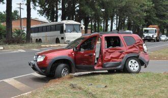 O acidente aconteceu no começo da tarde desta sexta-feira