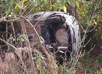 O acidente aconteceu no final da tarde deste domingo