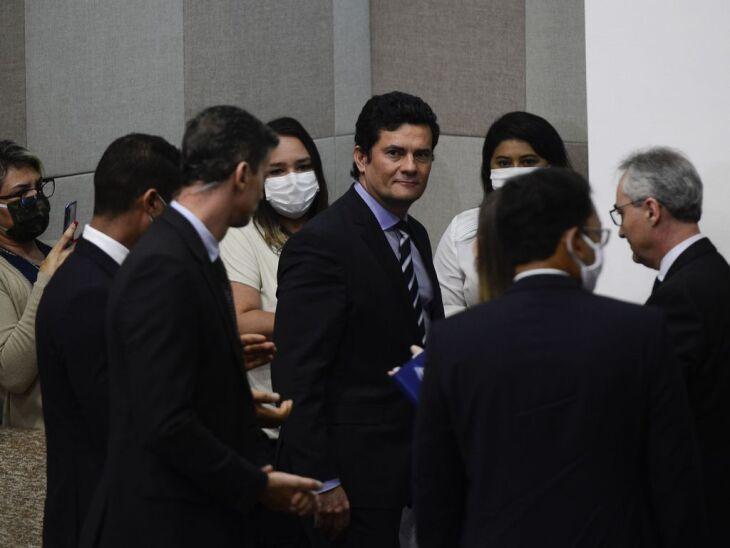 Ex-ministro da Justiça e Segurança Pública, Sergio Moro em pronunciamento à imprensa (Foto: Marcello Casal Jr/Agência Brasil)