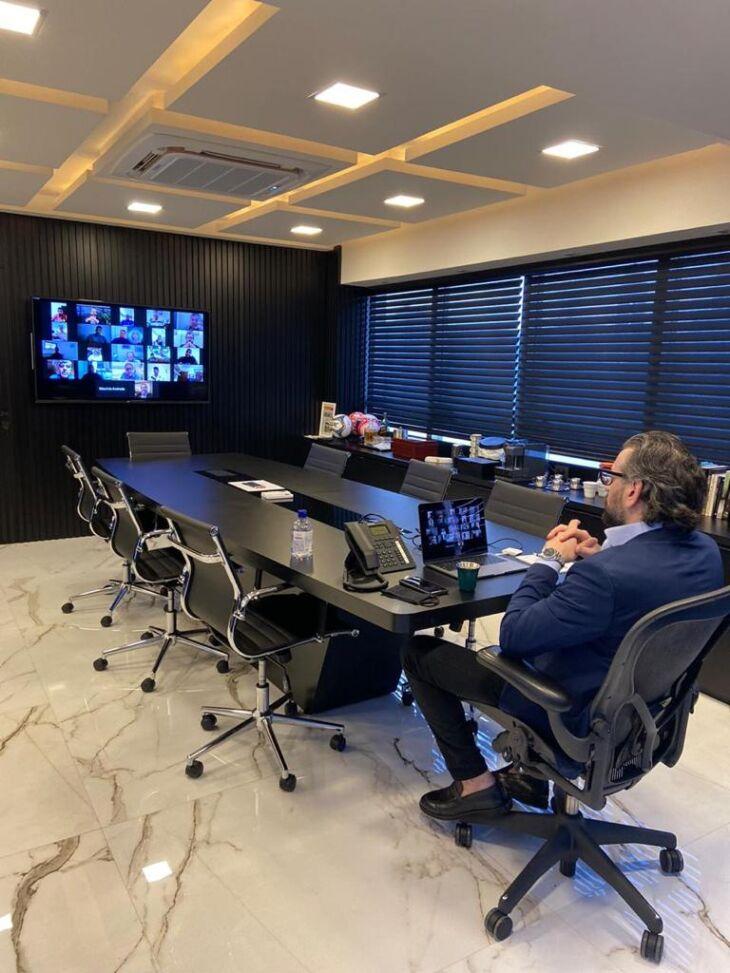 Videoconferência: presidente Ghion Júnior representou o Gaúcho (Arquivo Pessoal)