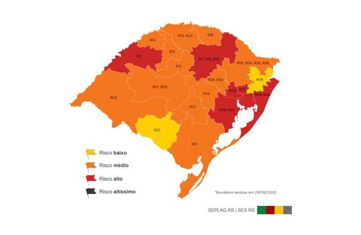 Mapa do estado após recursos (Imagem: Divulgação)