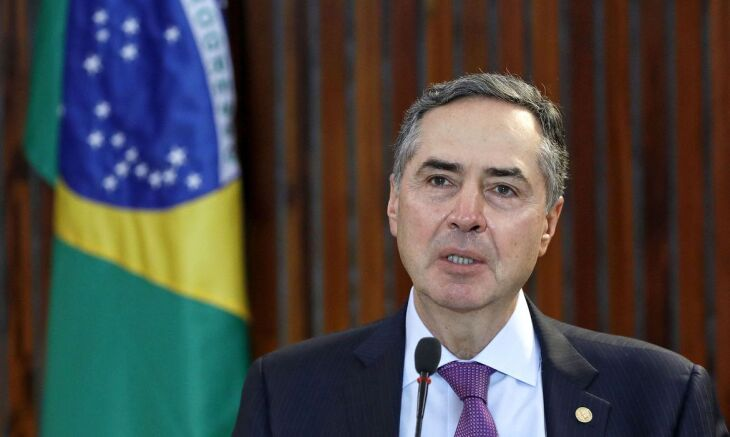 O presidente do Tribunal Superior Eleitoral (TSE), ministro Luís Roberto Barroso, participou de uma entrevista coletiva virtual (Foto: Roberto Jayme/ASCOM/TSE)