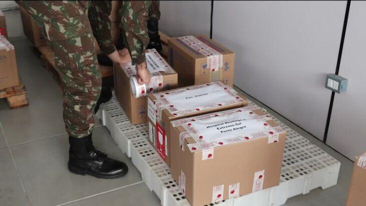 A carga será entregue para 46 municípios - Foto: Exército/Divulgação