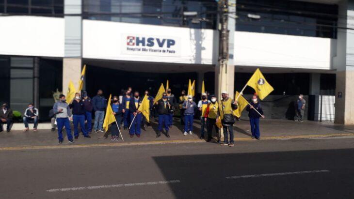 A ação faz parte de uma mobilização nacional (Foto: Divulgação/Sindicato)