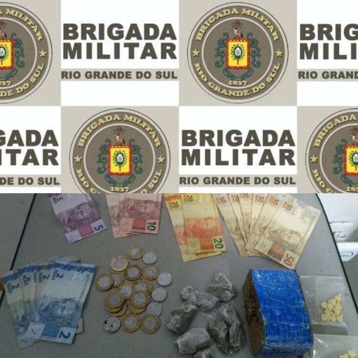 Drogas encontradas na casa foram recolhidas (Foto: Divulgação/3ºRPMon)