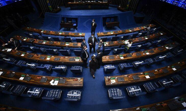 Este é o segundo dia de votações semipresenciais (Foto: Edilson Rodrigues/Agência Senado)