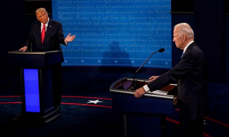 Biden e Trump disputam a preferência dos americanos (Foto: Morry Gash/Poll via Reuters)