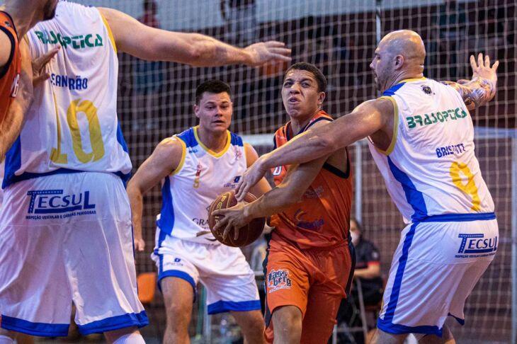 Comercial: time amador em disputa profissional * Foto – Ricardo Marchetti/Sojão Basquete