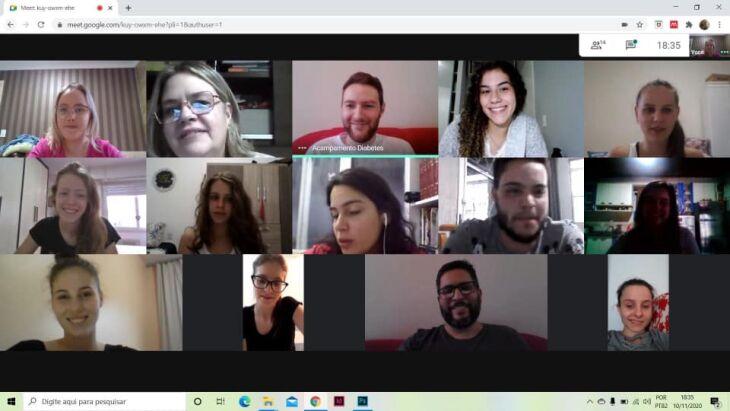 Comissão organizadora se preparando para o Acampamento virtual (Foto Reprodução)