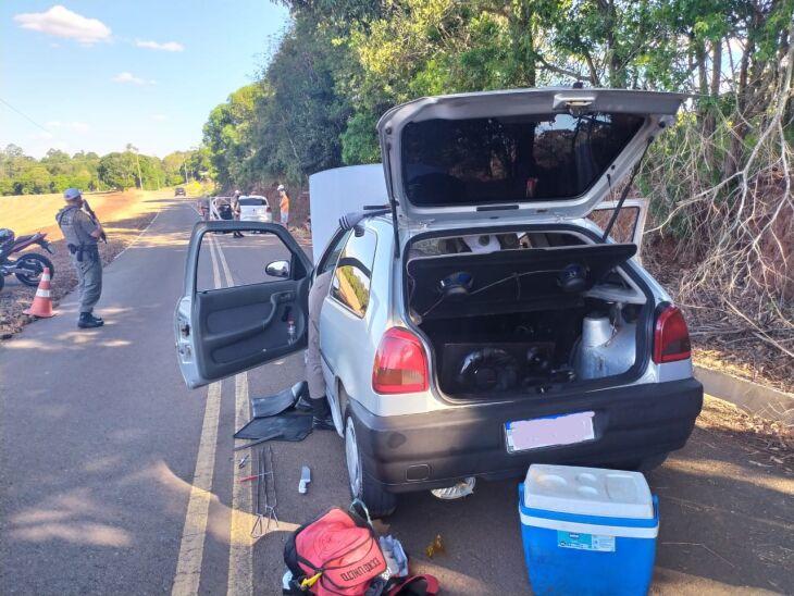 BM: fiscalização em estradas da região - Foto-Divulgação-BM