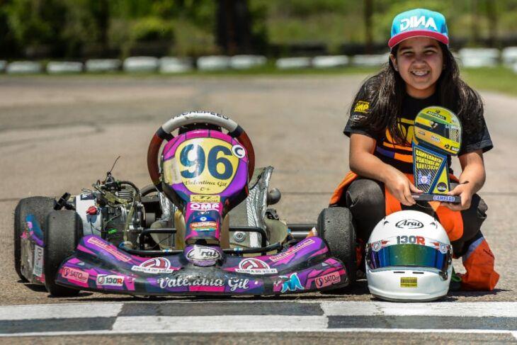 Valentina: título na segunda competição da curta temporada (Foto – Arquivo Pessoal)