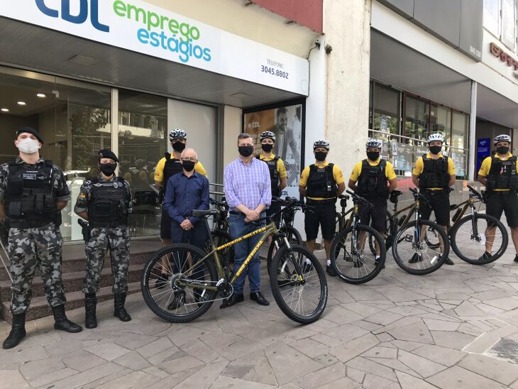 Com 14 anos de atuação, a Bike Patrulha de Passo Fundo é o mais antigo esquadrão de bicicletas do RS (Foto: Divulgação/CDL)