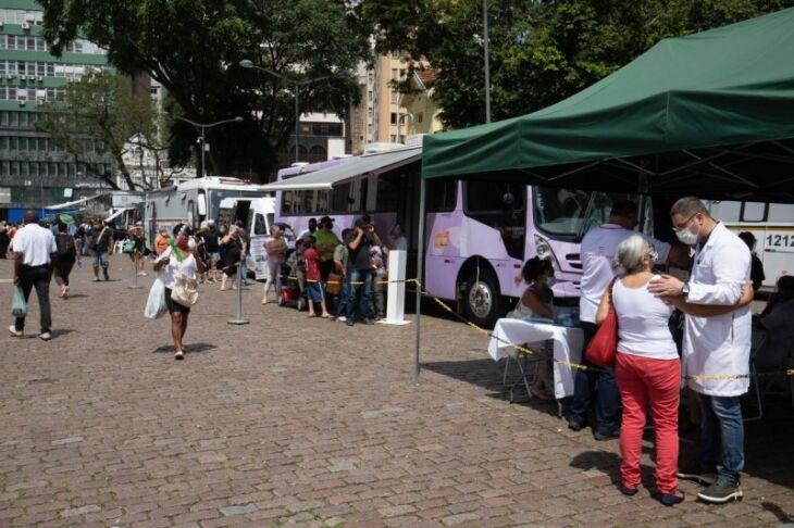 Mutirão itinerante de acolhimento a mulheres teve início em Porto Alegre e seguiu para o interior (Foto: Itamar Aguiar / Palácio Piratini / Arquivo)