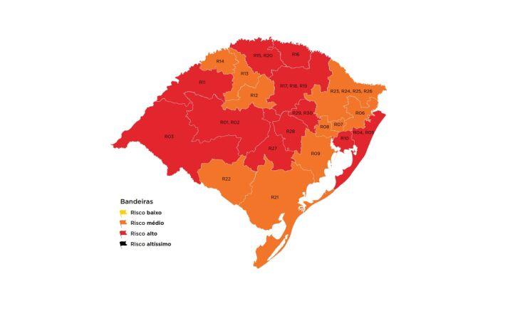 O estado ficou dividido entre bandeiras laranja e vermelha (Imaagem: Divulgação)