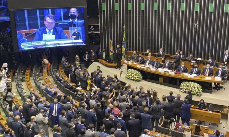 A sessão solene ocorreu de forma presencial no plenário da Câmara dos Deputados e reuniu centenas de parlamentares (Foto: Fabio Rodrigues Pozzebom/Agência Brasil)