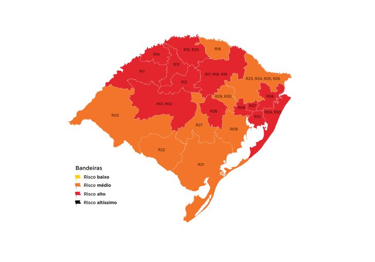 13 regiões estão com alto risco epidemiológico (Imagem: Divulgação)