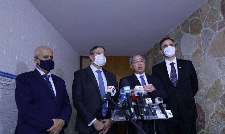Compromisso foi acertado após reunião com ministro Paulo Guedes (Foto: Luis Macedo/Câmara de Deputados)