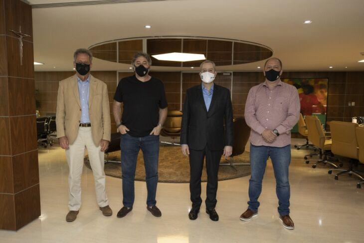 Rodolfo Landim, Julio Casares, Rogério Caboclo e Alessandro Barcellos (Foto - Lucas Figueiredo-CBF)
