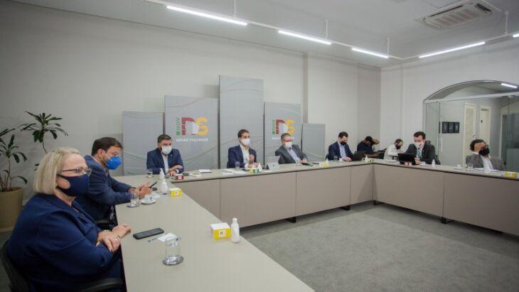 Representantes dos demais Poderes, por videoconferência, externaram compreensão com a situação e as medidas tomadas (Foto: Felipe Dalla Valle/Palácio Piratini