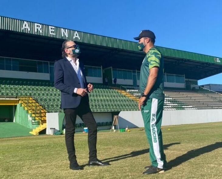 Conversa na Arena: presidente Ghion Júnior e técnico Vanderson Pereira - Foto – FBJ-Especial-ON