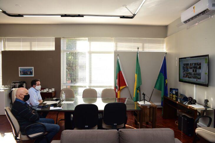 O encontro foi realizado na tarde desta sexta-feira (30) (Foto: Diogo Zanatta/PMPF)