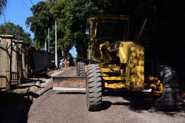 As obras já começaram em pelo menos duas das ruas eleitas (Foto: Divulgação/PMPF)