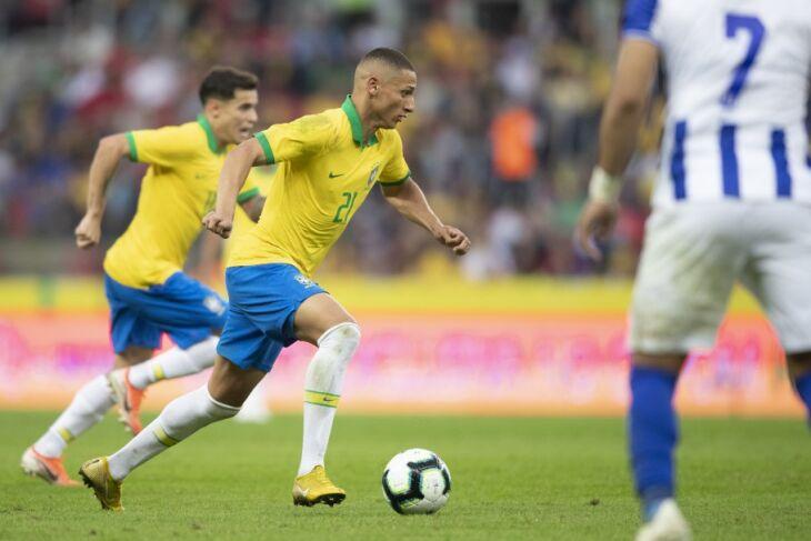 O Brasil é o líder das Eliminatórias Sul-Americanas (Foto: Lucas Figueiredo/CBF)