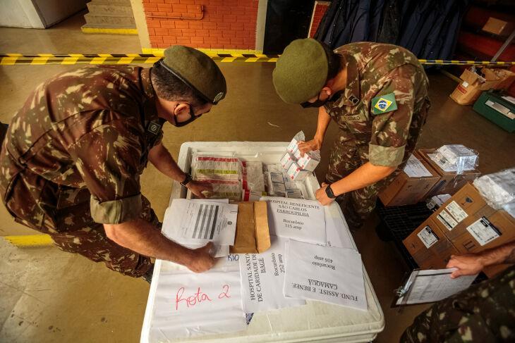 Os medicamentos serão distribuídos pelo 3º Grupamento Logístico, a partir do 3º Batalhão de Suprimento, em Nova Santa Rita (Foto: Gustavo Mansur /Arquivo Palácio Piratini)