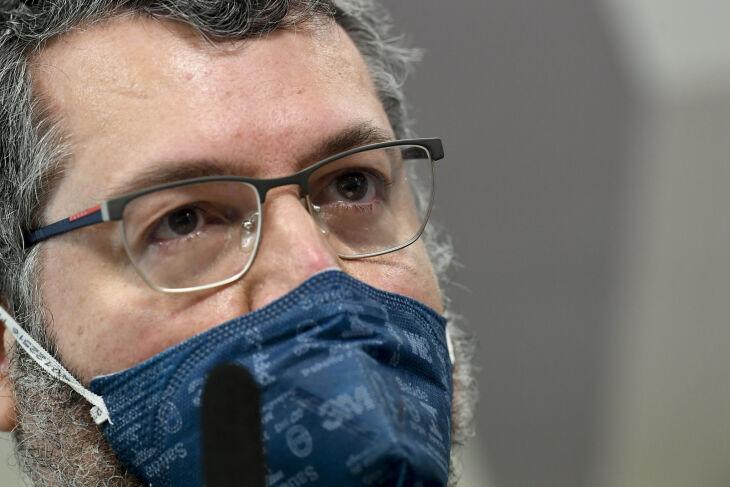 Araújo está desde as 9h30 depondo na CPI (Foto: Jefferson Rudy/Agência Senado)
