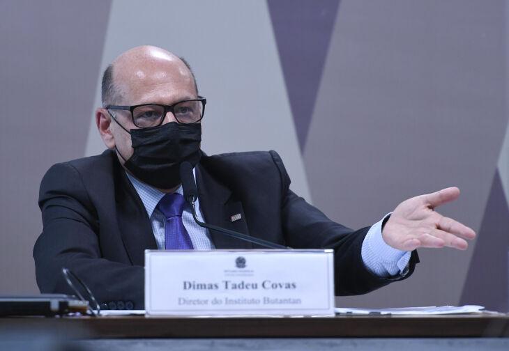 Covas depõe na CPI da Pandemia no Senado (Foto: Edilson Rodrigues/Agência Senado)
