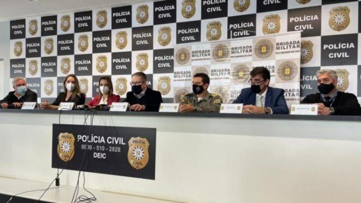 Em entrevista coletiva foi destacado que prisões foram resultado de operação integrada entre as forças de segurança do Estado (Foto: Carlos Vogt/Polícia Civil)